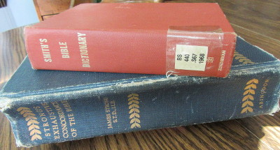 Jim Kerwin's copies of Strong's Exhaustive Bible Concordance and Smith's Bible Dictionary