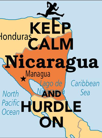Map of Nicaragua overlaid with a 'Keep Calm' meme.