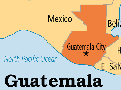 Map of Guatemala, courtesy of Operation World