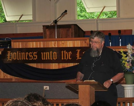 Jim Kerwin serving as the Bible Teacher at the Iowa Holiness Association camp meeting a few years ago