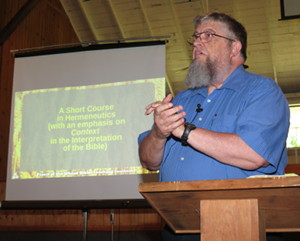 Jim Kerwin teaching at the Iowa Holiness Association Bible Camp 2018