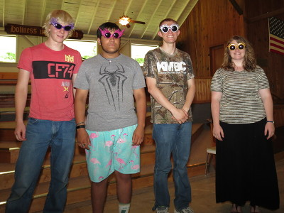Students at the hermeneutics class at IHA Camp