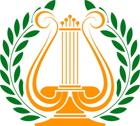 Lyre and Wreath, used under license from www.123rf.com (santi0103/123RF Stock Photo)
