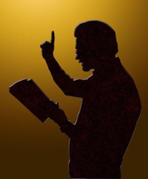 Silouhette of a preacher