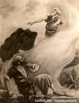 Image of Elijah bestowing his mantle on Elisha, used under license from GoodSalt.com