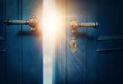 Image of an opening door, used under license from Elena Schweitzer/123RF Stock Photo