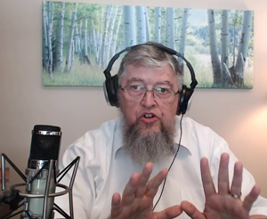 Jim Kerwin sharing on the 'Pilgrim's Progress' broadcast.