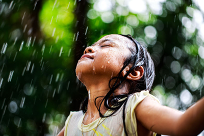 Image of a young girl welcoming the rain is used under license from https://www.123rf.com/profile_pat138241.