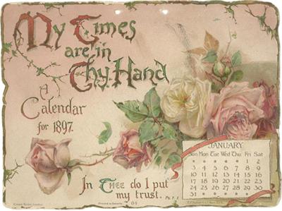 An 1897 calendar cover