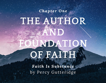 Chapter title 'The Author and Foundation of Faith' on a stars-and-mountain backdrop