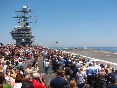 Truman carrier landing, photo courtesy of Denise Kerwin