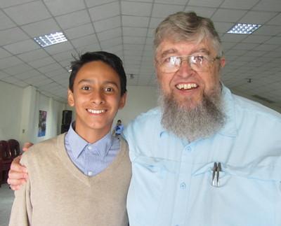 Photo of Eric Ortíz López and Jim Kerwin