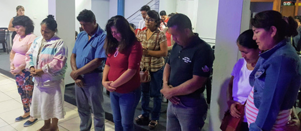 An altar call in Tingo María