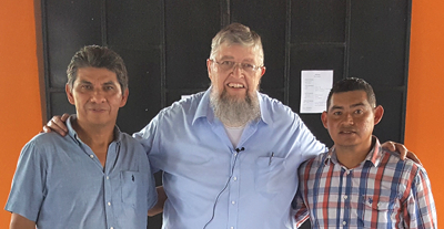 Photo of Antonio Rodriguez, Jim Kerwin, and Javier Cruz