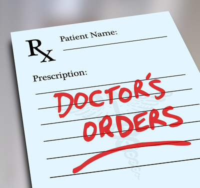 Image of scrip with the words 'Doctor's Orders'