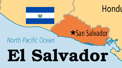 Map and flag of El Salvador