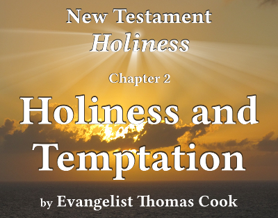 Graphic for the title of this chapter, 'Holiness and Temptation', part of the book 'New Testament Holiness' by Thomas Cook