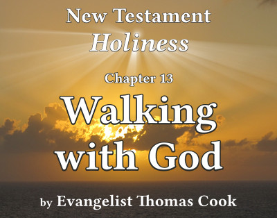 Graphic for the title of this chapter, 'Walking with God', part of the book 'New Testament Holiness' by Thomas Cook