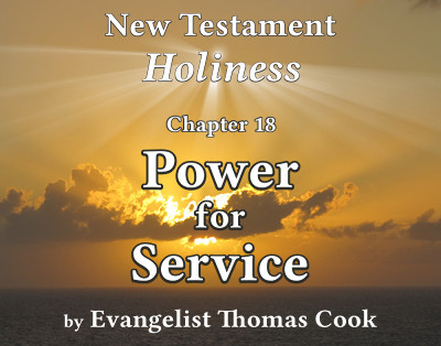 Graphic for the title of this chapter, 'Power for Service', part of the book 'New Testament Holiness' by Thomas Cook