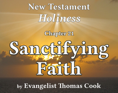 Graphic for the title of this chapter, 'Sanctifying Faith', part of the book 'New Testament Holiness' by Thomas Cook