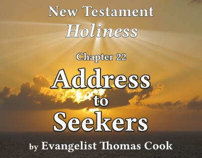 Graphic for the title of this chapter, 'Address to Seekers', part of the book 'New Testament Holiness' by Thomas Cook