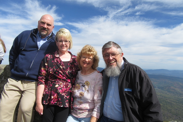 Photo of Bruce and Rachel Wasson, with Jim and Denise Kerwin