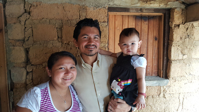 Honduran pastor and family