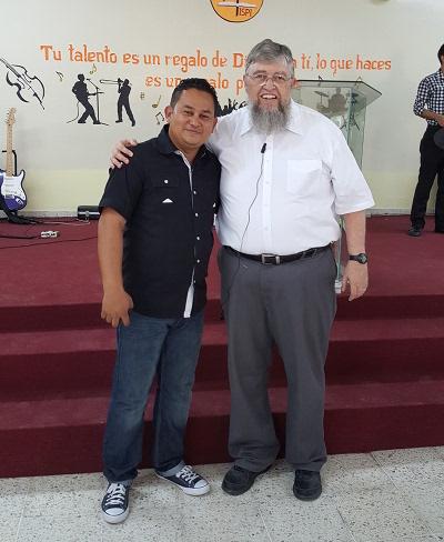 Photo of translator Joel Aguilera with author Jim Kerwin