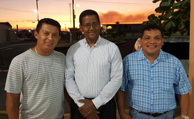 In San Salvador, El Salvador with brother Ulises, Pastor/superintendent Francisco Olivo, and Ángel Álverez