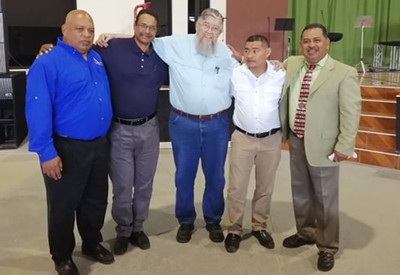 With pastors in Siguatepeque, Honduras