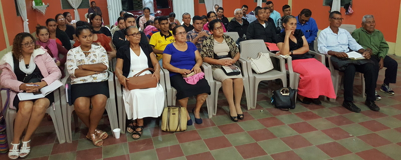 The pastors and leaders in attendance at Trojes, Honduras