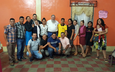 A group of pastors and young leaders in Trojes, Honduras