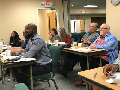 Image of adult students at a North Florida Theological Seminary class April 2019