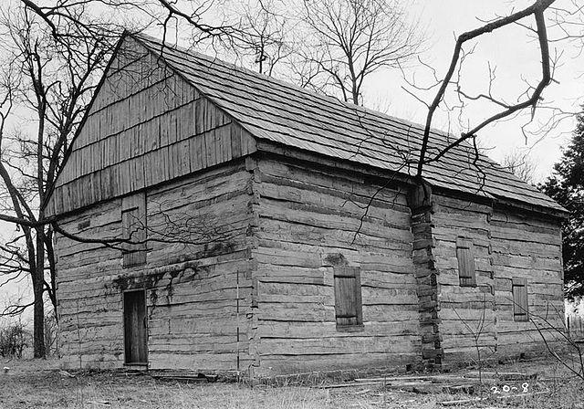 1934 photo of the Cane Ridge Meeting Hall