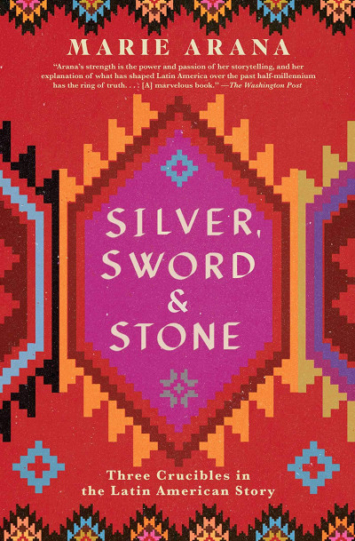 Cover the book 'Silver, Sword & Stone' by Marie Arana