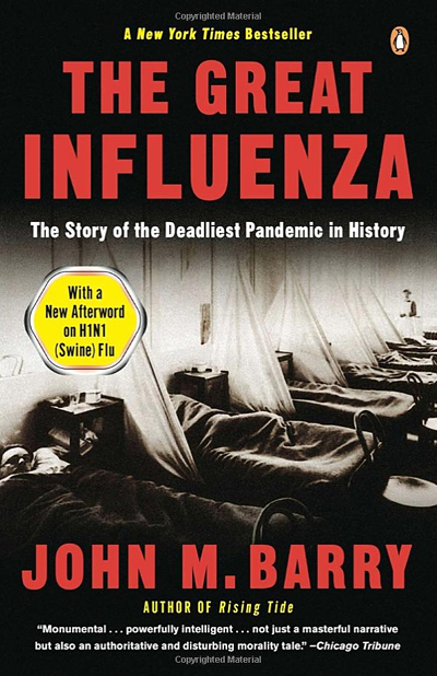 Cover of the book 'The Great Influenza' by John Barry
