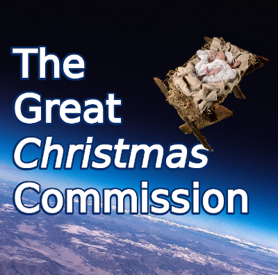 Title image showing earth's atmosphere from space, with the sky bearing the title 'The Great Christmas Commission