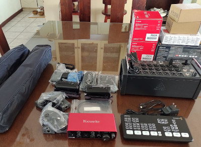 Photo of new sound equipment for a Guatemala City church