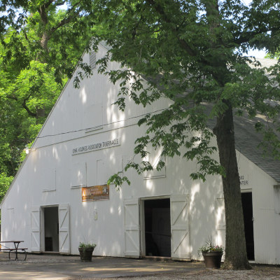 Photo of the Iowa Holiness Association meeting tabernacle in University Park, Iowa