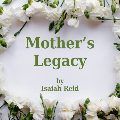 Title image, text surrounded by a floral wreath