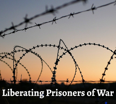 Photo of barbed wire and concertina wire against a dawning horizon